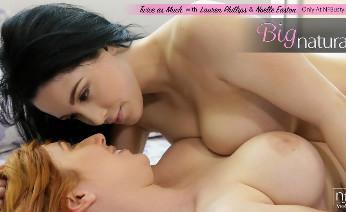 Big boobed lesbians hot horny joy