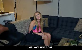 Young blonde hot step sister Cameron Dee