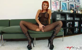 Redhead MILF gets her pussy and ass fucked