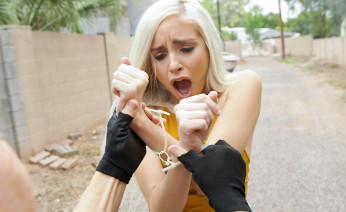 Naomi Woods caught for shoplifting and fucked
