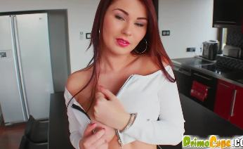 Big tits giving sex toy titty fucking