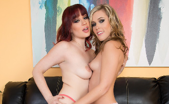 Pornstars Jessica Ryan and Sasha Heart Fucking