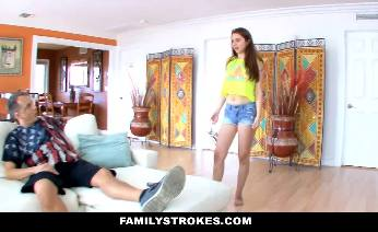 Big Titted Teen Fucks Step Dad
