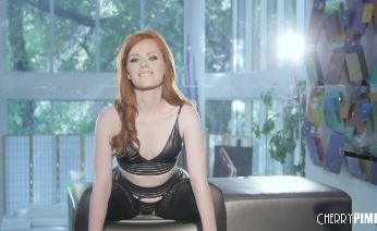 British Babe Ella Hughes in Stockings