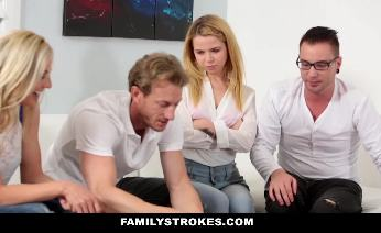Alina West takes her step brothers big hard meatstick