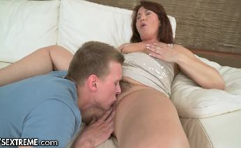 Voluptuous Mature Loves Young Cock