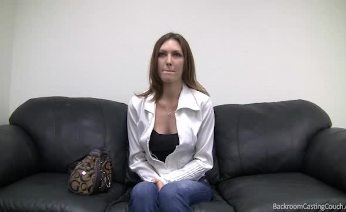 Redhead Alicia on Backroom Casting Couch
