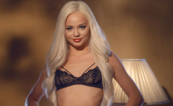 Elsa Jean is Sultry in Stockings