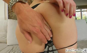 DP comes hard and rough for this cute blonde