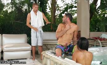 Threesome with stepbro and buddy