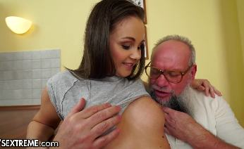 Teen Brings Grandpa Used Panties